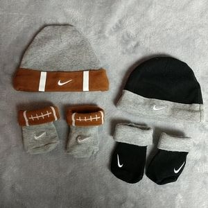 Nike baby hat & bootie sets